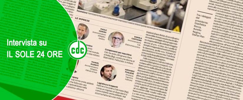 ELETTROMECCANICA CDC – Intervista su IL SOLE 24 ORE
