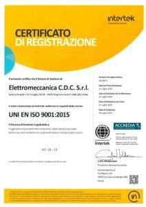 Certificazione CDC Elettromeccanica
